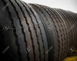 100 New Truck Tires Closeup Of Brand Stock Photo Picture And Royalty
