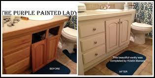 Paint Color For Bathroom Cabinets by Bathroom Cabinets The Purple Painted Lady Vanity Before After