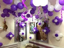 Purple And White Balloon Wall Decoration Ideas