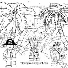 Caribbean Bandits Island At Worlds End Port Royal Castle Lego Pirates Coloring Pages For Children