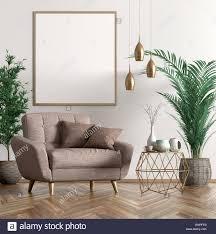 innenraum der wohnzimmer mit kupfer couchtisch beige sessel