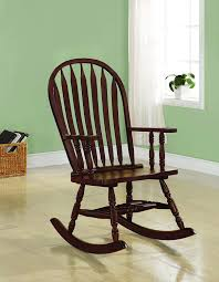 Coaster Home Furnishings Windsor Back Rocker Chair Cappuccino