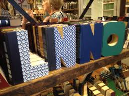 Books Cut Into Letters