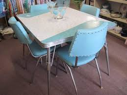 KitchenVintage Chrome Table And Chairs For Sale Retro Kitchen Set Vintage