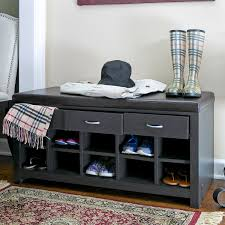 Baxton Shoe Cabinet Canada by Chelmsford Black Entryway Bench Skyline Furniture Upholstered