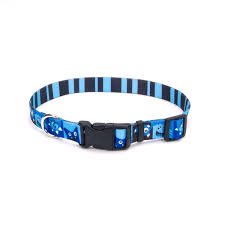 Petco Dog Beds by Petco Blue Happy Monster Nylon Adjustable Dog Collar Adjustable