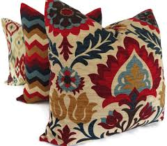 Decorative Lumbar Pillows For Bed by Il Fullxfull 364131431 66f3 Decorative Lumbar Pillow Blue And Red