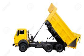 100 Side Dump Truck View Of Yellow Dump Truck For Construction Work Isolated