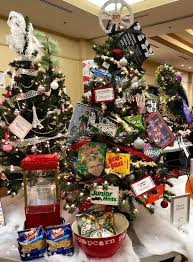 The Enchanted Forest Features Over Eighty Lavishly Decorated Themed Trees And Wreaths Available For Silent Auction Are Donated By Both