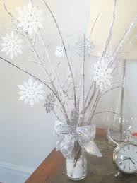 Winter Wonderland Centerpiece With Dyi Icy Branches