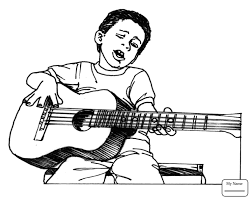 Coloring Pages Activities Music Musical Instruments American Rock Star