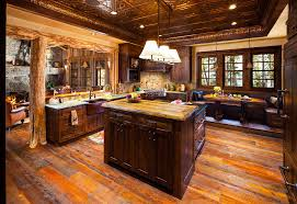 foxtail residence big sky log cabin kitchen teton heritage builder