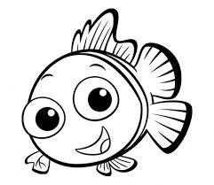 Cute Nemo Fish Printable Kids Coloring Pages