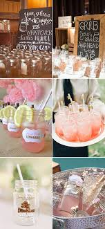 Diy Wedding Drinks With Mason Jars For Country Ideas