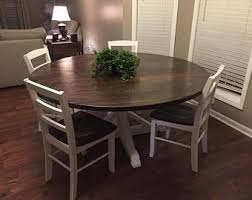 Round Farmhouse Dining Kitchen Table With Trestle Style Pedestal FREE Delivery In VA Or NC But Ship Nation Wide