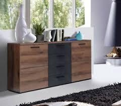 details zu kommode wohnzimmer sideboard 150cm schwarzeiche schlammeiche modern 56571609