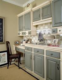 Kitchen Amusing Painted Kitchen Cabinets Two Colors Toned Grey