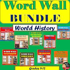 WORD WALL Posters BUNDLE World History Grades 8 12