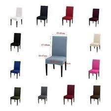 details zu 2 x esszimmer solid stuhl sitzbezüge husse stretch abnehmbare hochzeit