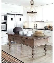 Vintage Kitchen Island Table Farmhouse Decor Work