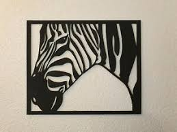 details zu wanddekoration wohnzimmer zebra 49x49 cm