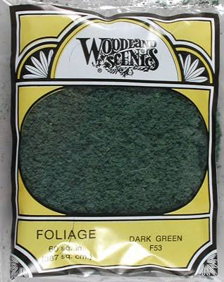 Woodland Scenics F53 Dark Green Foliage