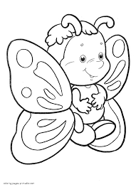 Butterfly With Flowers Coloring Pages Within Spring For Kids