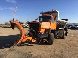 100 Plow Trucks For Sale 1988 Mack RM686 Single Axle Spreader Truck