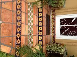 saltillo floor tile along talavera tile in raisers mexican home