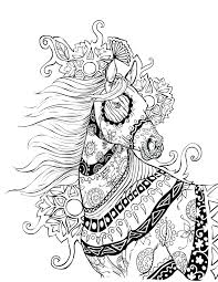 Horse Coloring Page Works Pages Horseshoe Crab Of Horses To Print Barrel Racing Full Size