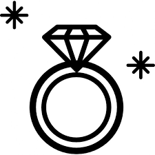 Vector and diamond ring clipart black and white favorite 2