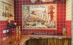 mexican tile murals chili pepper kitchen backsplash mural tile