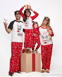 2018 New Year Family Matching Outfits Christmas Pajamas Santas Deer