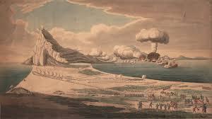 file vue du siege de gibraltar et explosion des batteries flottantes