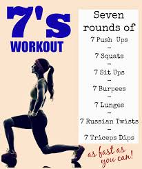 Amazing at home strength and cardio burner 7 reps of 7 exercises