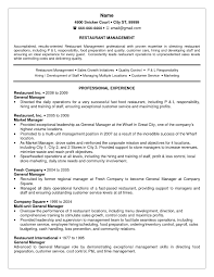 Sample Of Resume For Restaurant Supervisor Fresh Manageresumeesumes General Unfor Table Summary