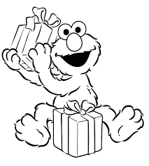 Good Elmo Birthday Coloring Pages 46 On For Kids With
