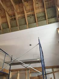 Insulating Cathedral Ceiling With Roxul by Installing Shiplap On The Exposed Ceiling U2014 Uncategorized U2014 Bangor