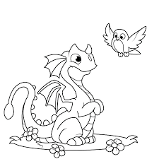 Puff The Magic Dragon Coloring Pages Of Dragons Scary
