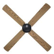 brilliant 120cm 4 blade austin ceiling fan matt black and maple
