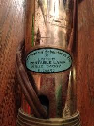 underwriters laboratories inc globe portable l antique