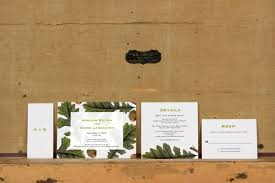 Modern Oak And Acorn Botanical Wedding InvitationsRustic Tree InvitationModern InviteWoodland Invite