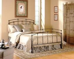 Rustic Vintage Bedroom Metal Bed Frames Grey Iron Frame