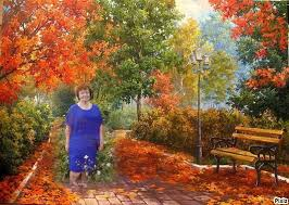 Create Meme Paintings For Paint By Numbers Swirling Leaves Autumn Alley In The Park Keyboard Arrow Left Another Template
