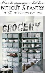 How to Organize a Kitchen without a Pantry in 30 min or Less