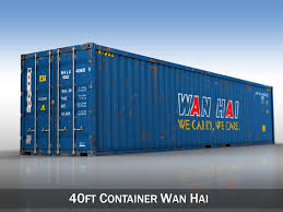 100 Shipping Container 40ft Wan Hai 3D Model In S 3DExport