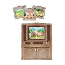 sylvanian families luxus farbfernseher tv schrank wohnzimmer