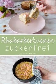 saftiger low carb rhabarberkuchen mit kokosmehl rezept