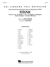 James Horner The Sinking by Titanic Full Orchestra Score Sheet Music By James Horner