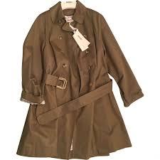 beige plain cotton kenzo trench coat vestiaire collective
